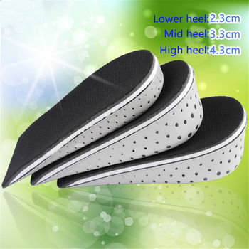 1 Pair Shoe Insoles Breathable Half Insole Heighten Heel Insert Sports Shoes Pad Cushion Unisex 2-4cm Height Increase Insoles Shoes Insoles