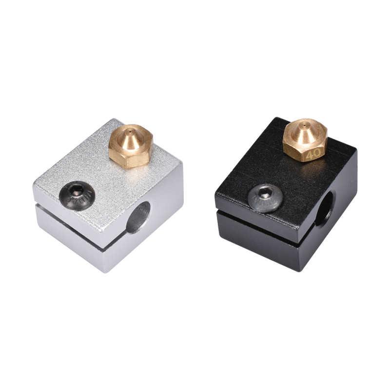 Запчасти для 3D-принтера V6 блок нагревания Makerbot MK8 MK10 E3D V5 V6 вулкан для головки экструдера J-Head алюминиевый блок