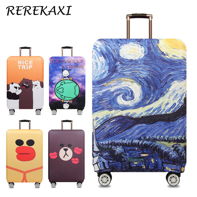 REREKAXI Fashion Travel Thicken Elastic Luggage Suitcase Protective Cover,Apply to 18-32inch Cases, Travel Accessories