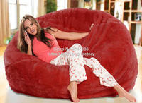 Red oversize living room bean bag furniture, warm and sofa comfort beanbag sofa chair set