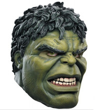 Latex The Hulk Mask Avengers Green Giant Adult Party Masks Halloween Cosplay Costumes Full Face Helmet