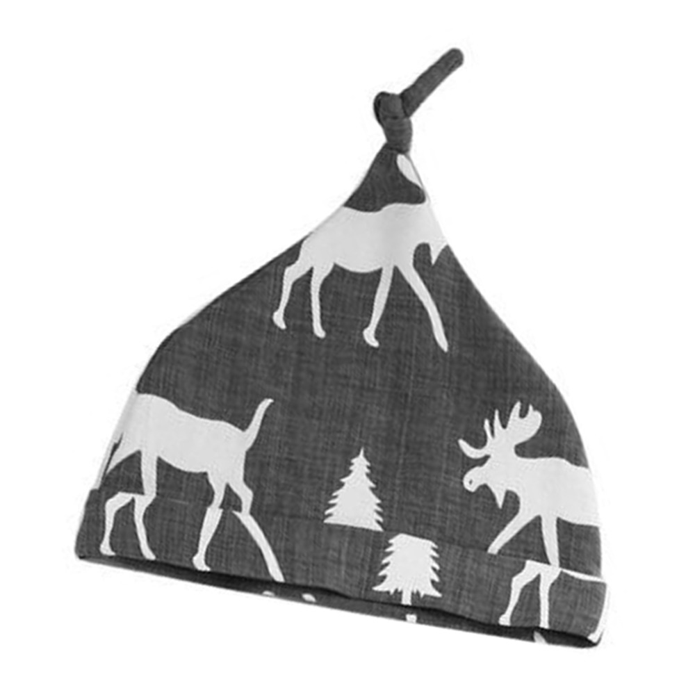 Hot! 3pcs/Set Fashionable Design Baby Boys Girls Long Sleeve Round Neck Cotton Shirts + Long Pants + Hats Christmas Deer Pattern