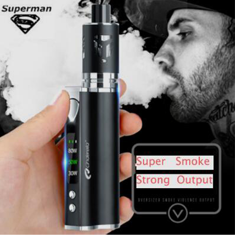 Original 80 w Vape Kit Integrierte 2200 mah Batterie Mit Led-anzeige Elektronische Zigarette Riesige Verdampfer Kit Elektronische Shisha Kit