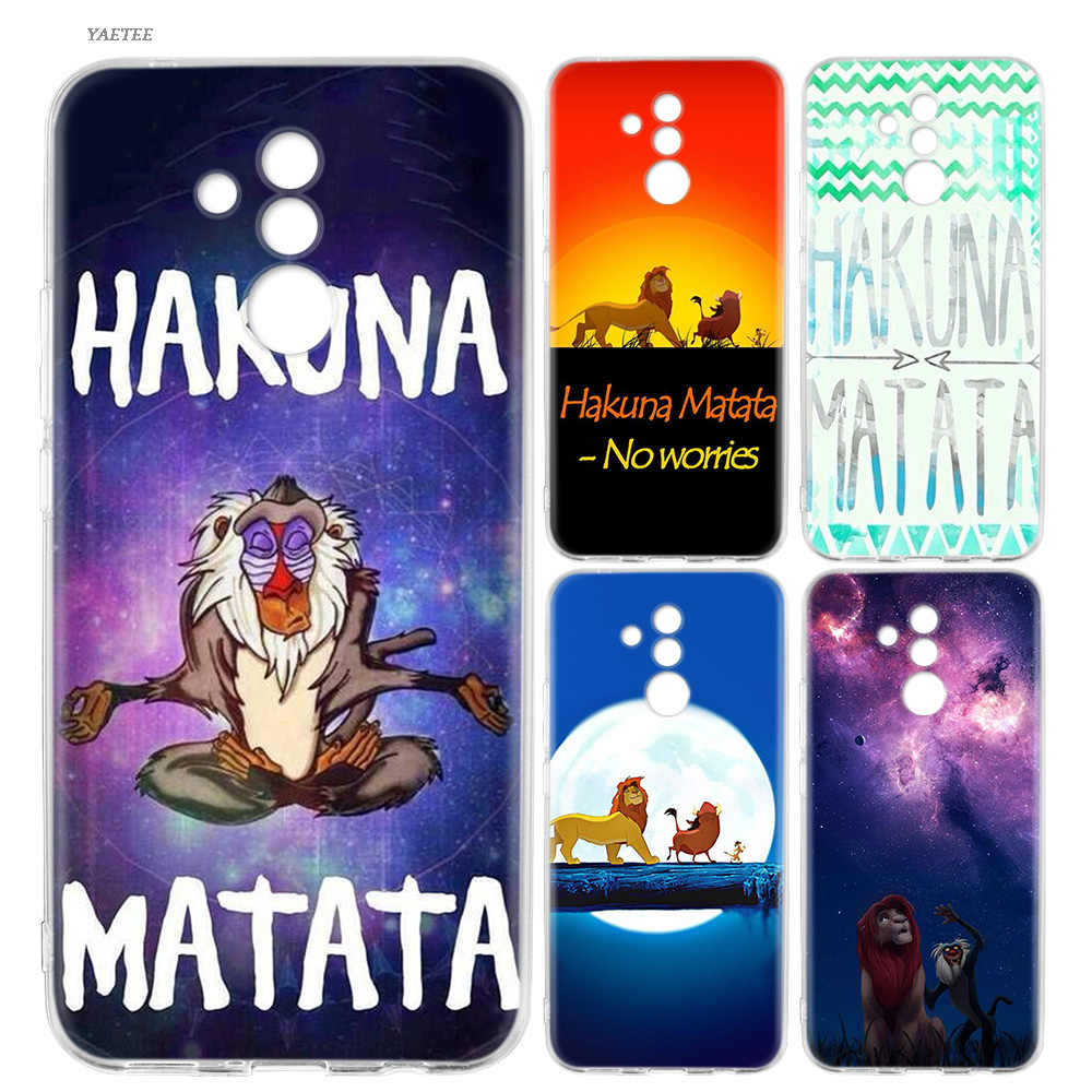Silicone Back Case For Huawei P20 P30 P10 lite Pro Mate 20 10 Pro lite P Smart Plus + 2019 Nova 4 Cover Hakuna Matata Lion King