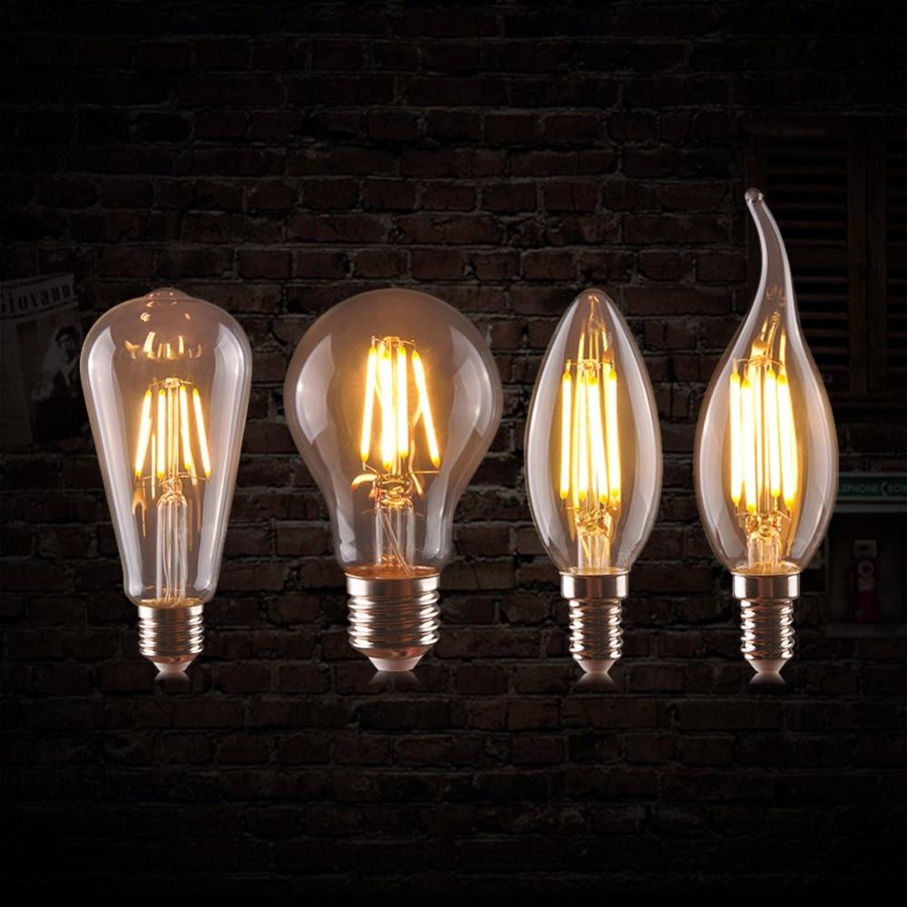 Aimengte Led Filament Candle Light Bulb 2 4 6 8w Edison