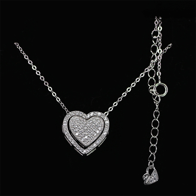 Idea Design Heart Necklace Many Ways To Wear Necklaces Fashion 925 Sterling  Silver Jewelry CZ Paved