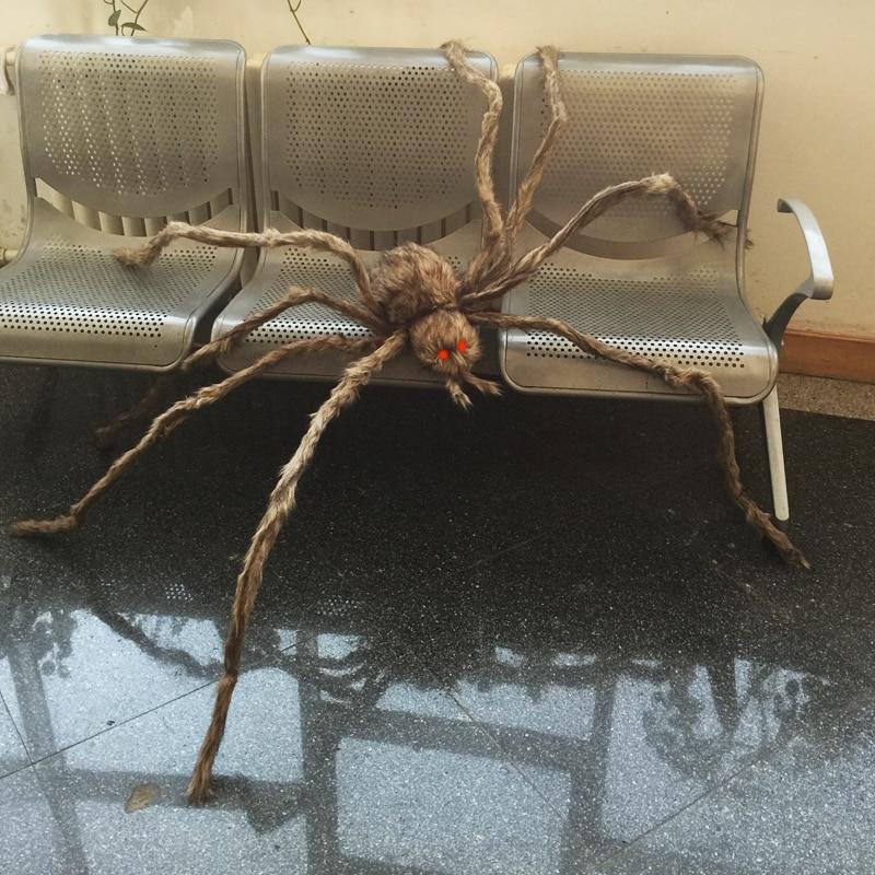 Obří chlupatý pavouk s LED oči pro Halloween - Pro svátky a večírky