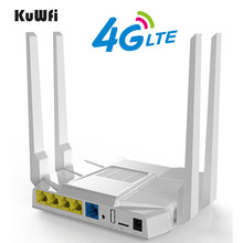 цена на KuWfi 3G/4G LTE Wifi Router 1200Mbps OpenWrt Home Wireless Router 11AC 2.4Ghz&5.8Ghz Wifi Router With Sim Card/LAN Port