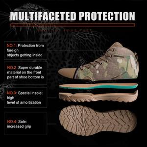 Image 5 - 무료 군인 야외 스포츠 전술 군사 남성 신발 캠핑, 하이킹 등산 신발 경량 트레킹