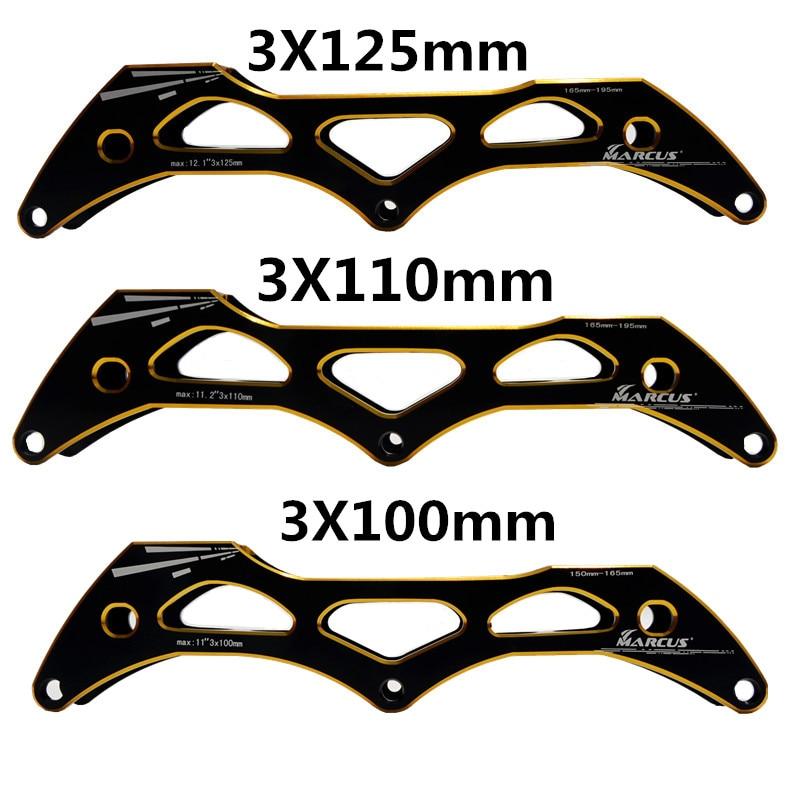 HOOMORE 125mm 110mm 100mm 3 Wheels Inline Speed Skating Base for 3X125mm 3X110mm 3X100mm Skates Frame