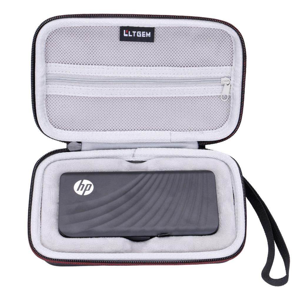 LTGEM EVA Hard Case For HP P800 512GB Portable External Thunderbolt 3 PCIe NVMe SSD - Travel Protective Carrying Storage Bag
