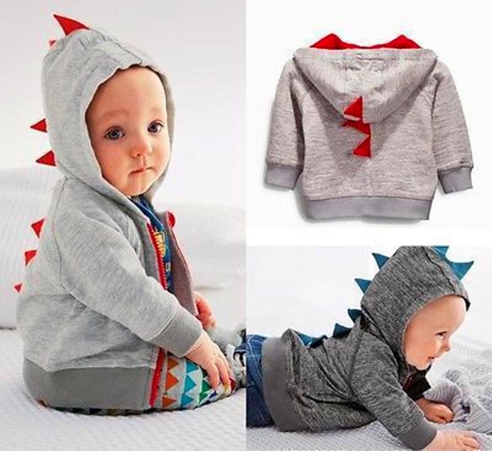 Roztomilý dinosaurus s chlapci Hoodie oblečení s dlouhým rukávem - Oblečení pro miminka