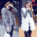 2017 spring fashion coat women faux fur vest shitsuke femme fur vests fashion luxury peel women' veste