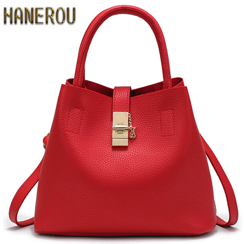 2016 New Bags Handbag Women Fashion Autumn Shoulder Bag Designer Handbags High Quality PU Leather Ladies Bucket Casual Tote Bag