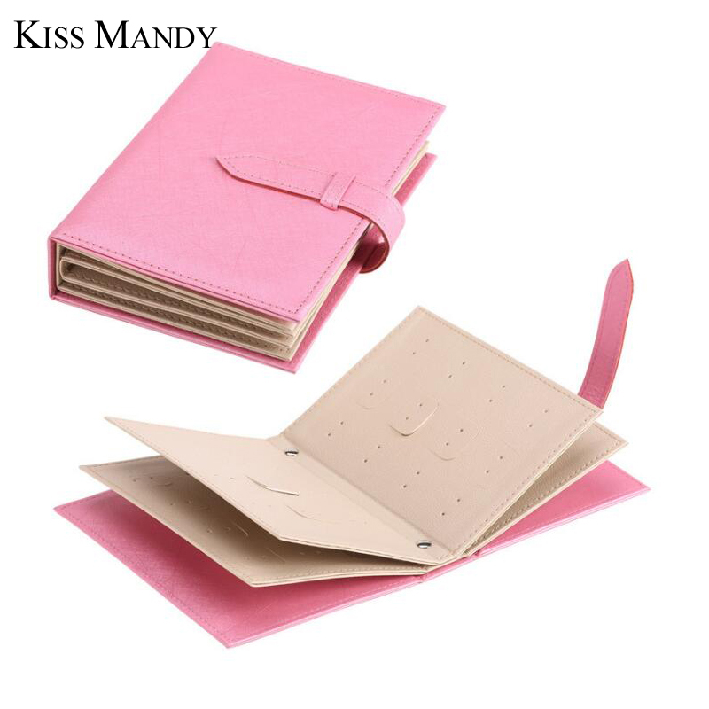 Kiss Mandy New Arrival Pu Leather Jewelry Box High Quality Book Storage Jewelry Page Boxes Cases KSO02