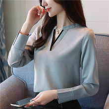 2018 fall elegant women blouses shirt cr
