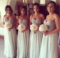 Bridemaid اللباس vestido madrinha sho-me 2017 الحبيب وصيفة الشرف حفل زفاف فستان طويل رداء demoiselle