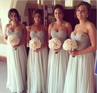 Bridemaid dress vestido madrinha sho-me 2017 sweetheart abiti da sposa lungo Wedding Party dress robe demoiselle d'honneur
