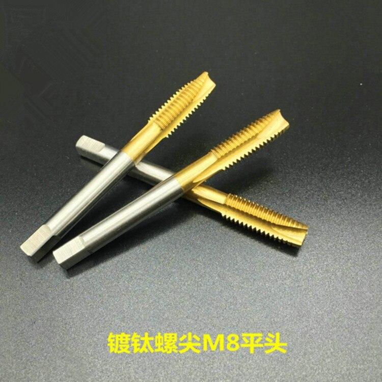 Tap & Sterben Handwerkzeuge Angemessen Fixmee 1 Pc Maschine Spirale Punkt Stecker Tippen Hss Titan M8/m10/m12 Gerade Flöte Gewinde Metric Maschine Schraube Wasserhähne