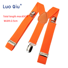10pcs/lot Soild Color Children Suspenders Belt Baby Boys Girls Clip-on Y-Back Braces