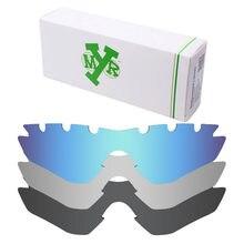 4d6a44b982 3 unidades mryok polarizado Objetivos para Oakley m2 Marcos ventilación Gafas  de sol Stealth Black & Ice Blue & Silver Titanium