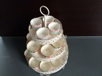 Free Shipping NEW 3 Tiers White Iron Cupcake Stand Cake Decoration Stand Wedding Towers Tree Cake