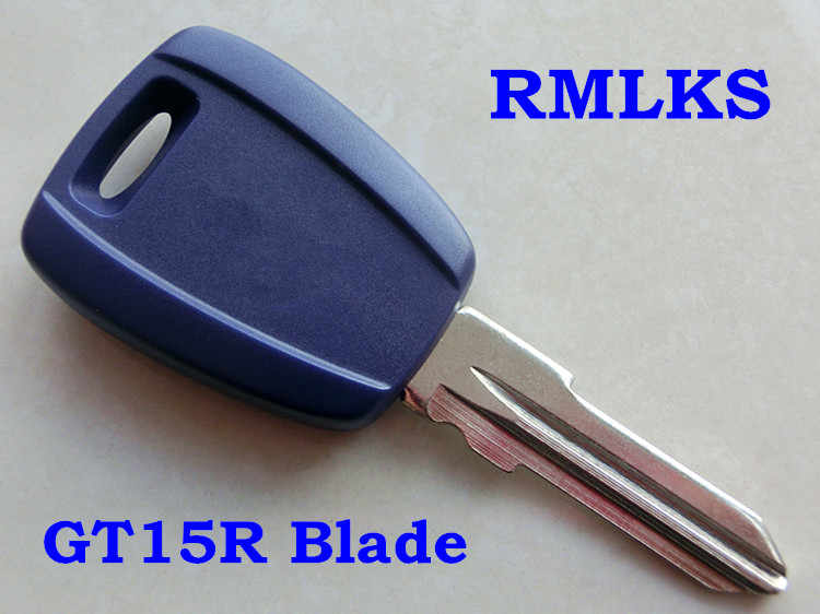 RMLKS Transponder Key Shell Blank Uncut Blade With TPX Chip Position Fit For Fiat Punto Stilo Seicento