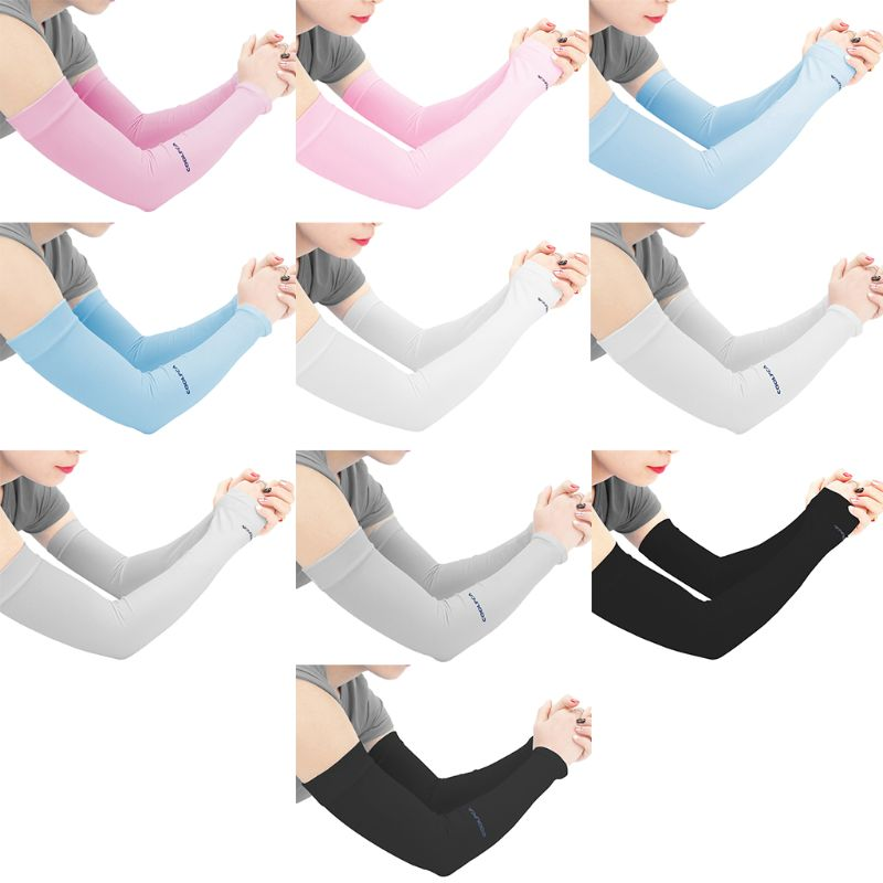 Ice Silk Driving UV Protection Half Finger Gloves Metallic Yarn Glitter Solid Color Arm Sleeves Ruffles Trim Leggings Socks