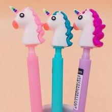 2Pcs 0.5mm Cute Kawaii Unicorn Plastic Mechanical Pencil Lovely Animal Automatic Pen For Kids Korean Stationery
