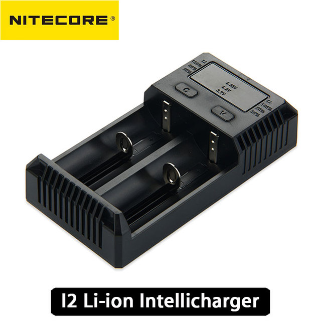 100% Original Nitecore Intellicharger Nova I2 2-slot Li-ion de Carga Da Bateria Bateria de NiMH Inteligente Carregador de Bateria Recarregável