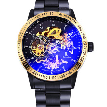 цена на IK Colouring Relogio Masculino Men Watches Top Brand Luxury Automatic Watch Military Skeleton Watch Men Wristwatches
