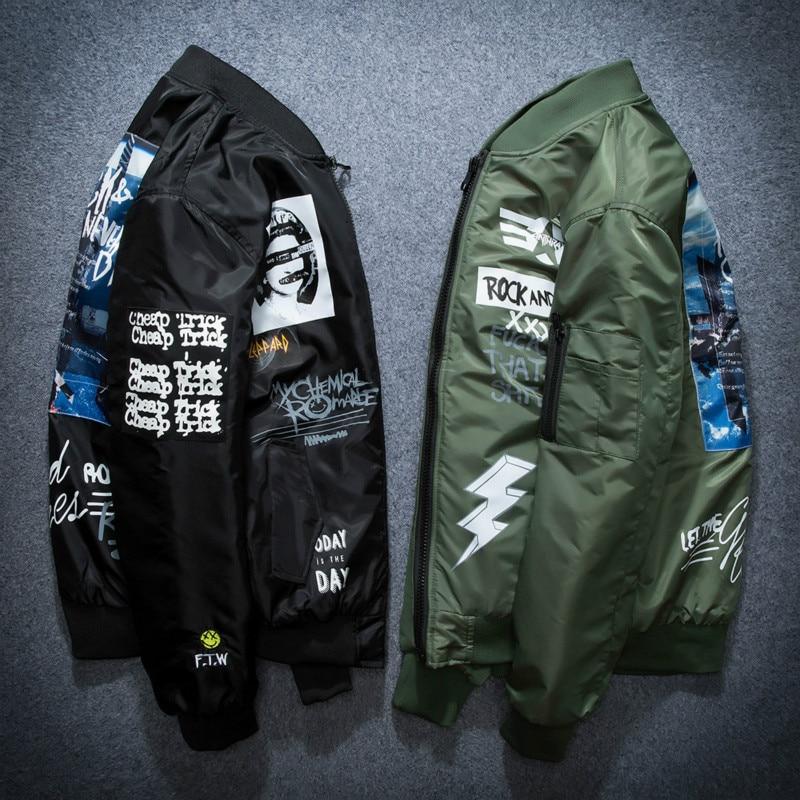 Autumn Winter Ma1 Bomber Jacket Men Army Pilot Jackets Thick Youth Punk Hip Hop Baseball Coat Male Fashion Casual Streetwear