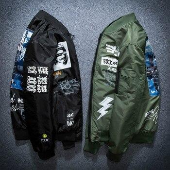 Otoño Invierno Ma1 bombardero chaqueta hombres chaqueta de piloto del  ejército chaquetas gruesas jóvenes Punk Hip Hop abrigo de béisbol hombre  casuales de ... 6f474dd3a46