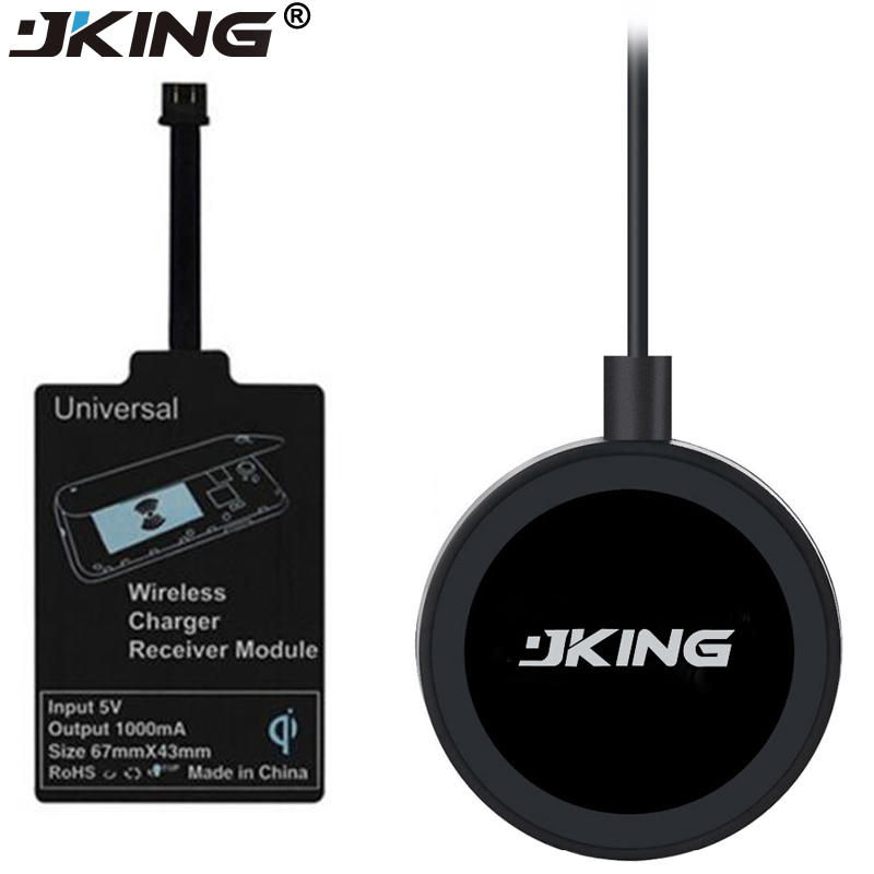 JKING 1Set QI Wireless Charging Pad with Android Receiver for xiaomi Samsung and Other Micro-USB Android Smartphone Devices