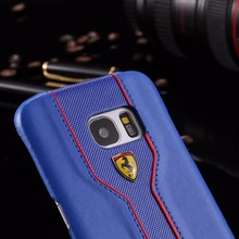 Leather Case with Porsche Label for Samsung