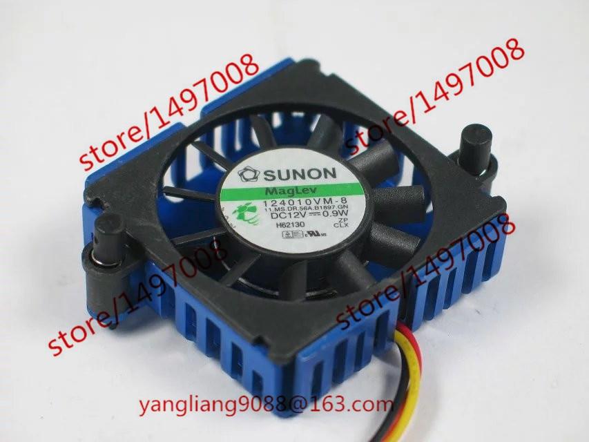 SUNON 124010VM-8 DC 12V 0,9W 3-vodičové 20x20x16mm serverové čtvercové ventilátor