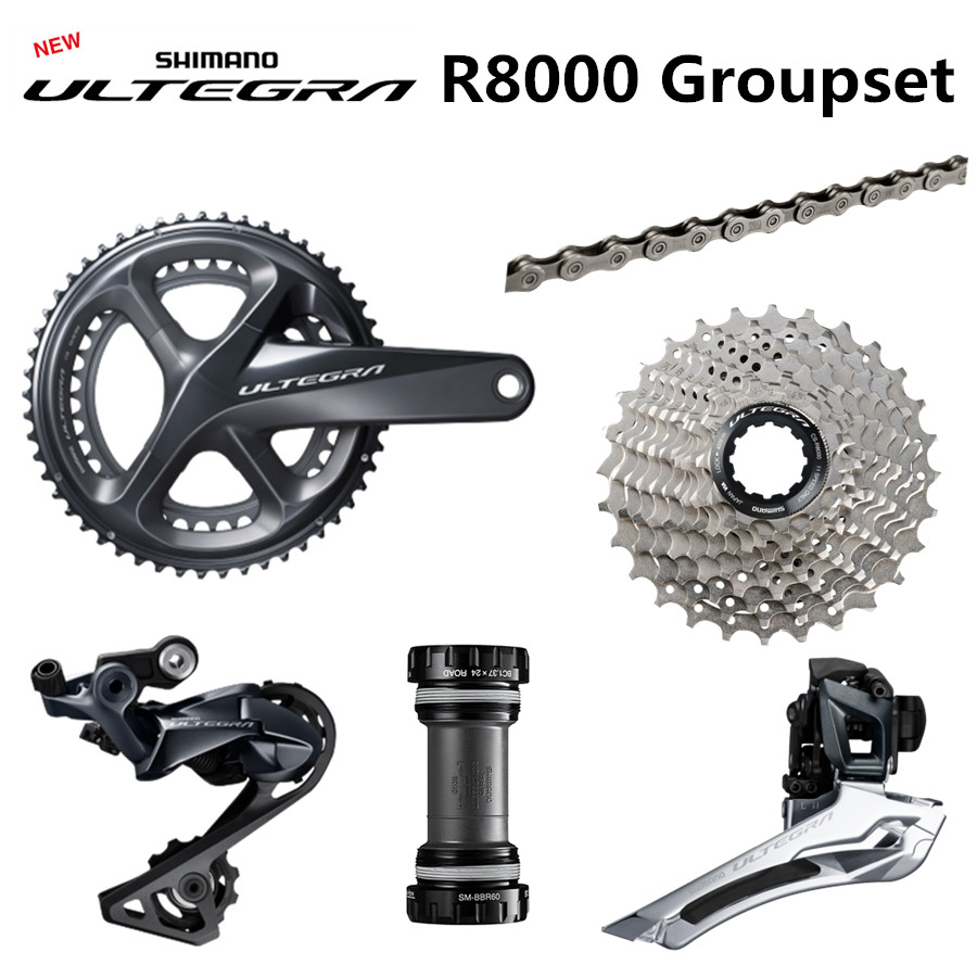 NEW SHIMANO R8000 Groupset ULTEGRA R8000 Derailleurs ROAD Bicycle 50 34 52 36 53 39T 165