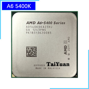AMD A6-Series A6-5400 A6 5400 K 5400K 3.6 GHz dual-core CPU Processor AD540KOKA23HJ / AD540BOKA23HJ Socket FM2