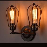 Wand Leuchten In Der Küche Wand Retro Beleuchtung Industrielle Led leuchten Metall Geschmiedet Lampe Retro nachttischlampe Birne-in Wandleuchten aus Licht & Beleuchtung bei