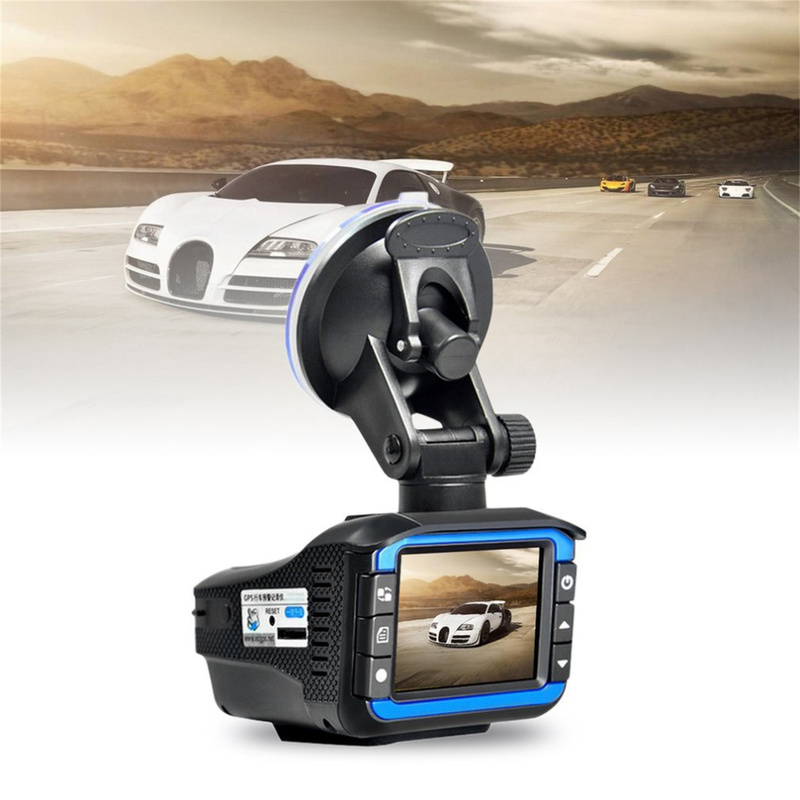 Vehicle Mounted Video Recorder Radar Speed Two In One Auto Car DVR Camera G Srnsor Speed Detector 720P HD Night Vision