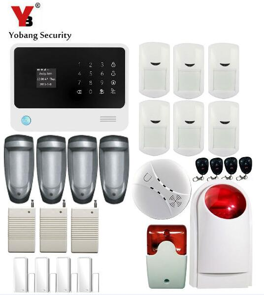 Yobang Security- 2.4G WiFi GSM GPRS SMS Wireless Home Security Intruder Alarm System  Wifi IP Camera Smoke Detector yobang security wifi gsm wireless pir home security sms alarm system glass break sensor smoke detector for home protection