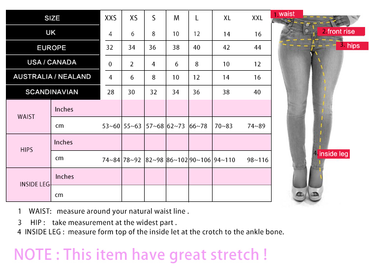 13dd9ac3466f6 Sexy hole ripped skinny high waisted pencil jeans white trousers leggings  pants full length plus size for women womans feminina-in Jeans from Women's  ...