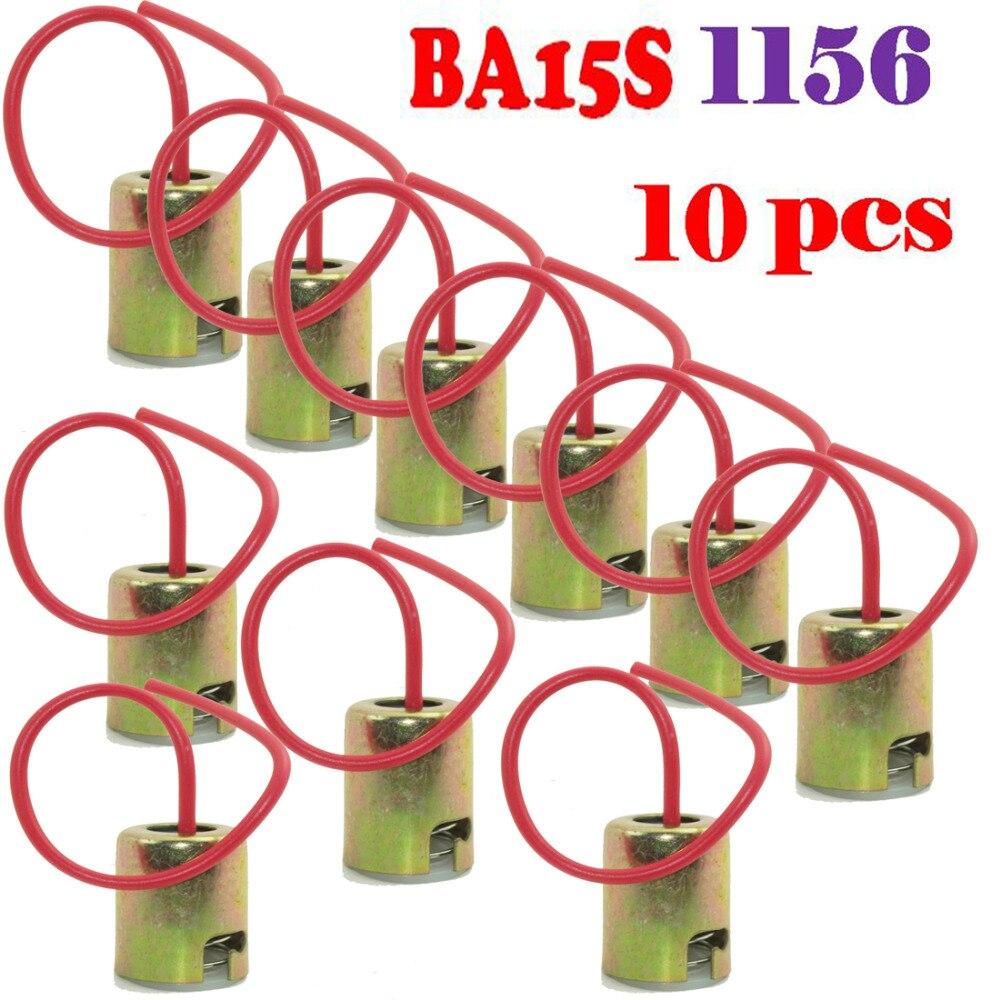 Tools Sincere 10pcs/lot 1156 S25 P21w 1073 1141 7506 Ba15s Light Bulb Socket Holder Wire Harness