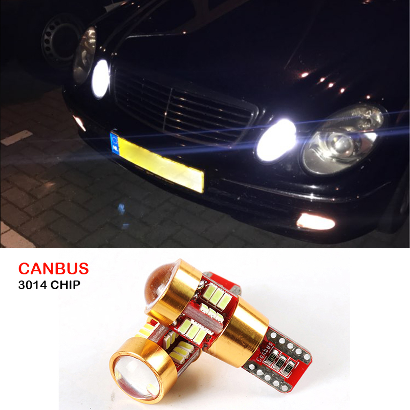Canbus T10 W5W LED Car Parking Lights Wedge Side Light For Mercedes Benz W203 W204 W211 W210 W202 W220 W164 W124 X204 W222 AMG auto fuel filter 163 477 0201 163 477 0701 for mercedes benz