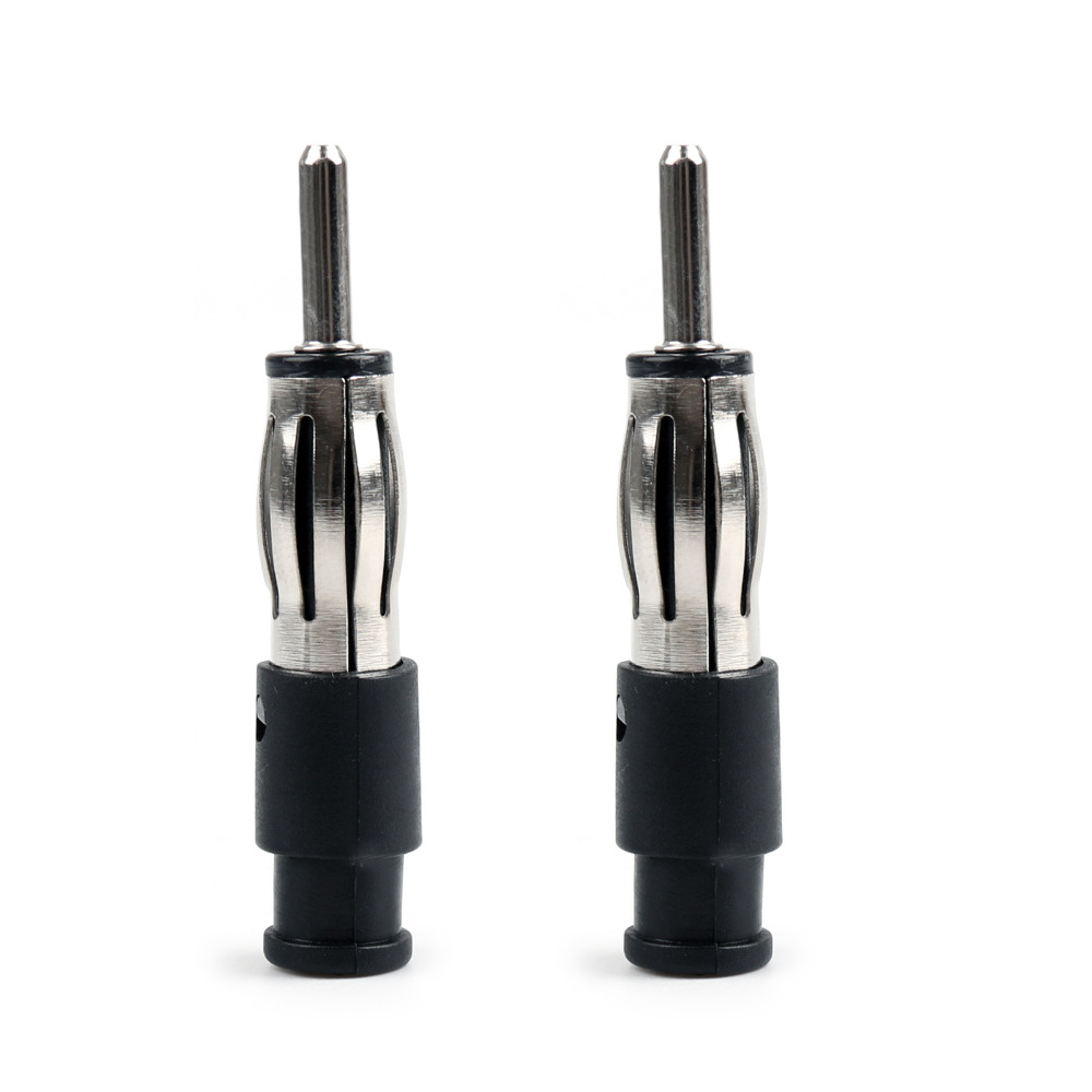 Areyourshop Sale 2Pcs Male Car CD Radio Aerial Antenna Plug Adapter Plastic Handle connector areyourshop hot sale 50 pcs musical audio speaker cable wire 4mm gold plated banana plug connector