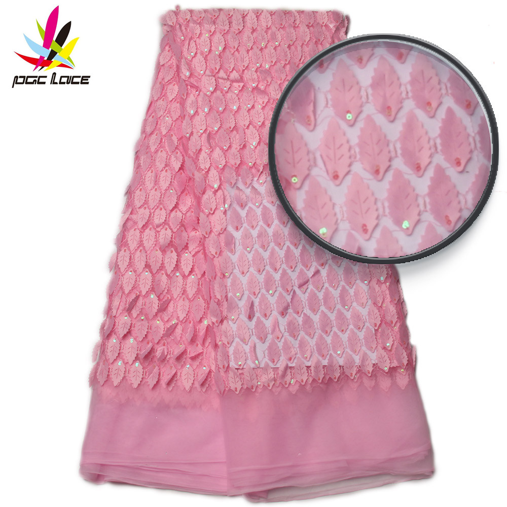 African Lace Fabric 2017 High Quality Lace 3d Lace Fabric Embroidery Fashion African Nigerian Party Dress