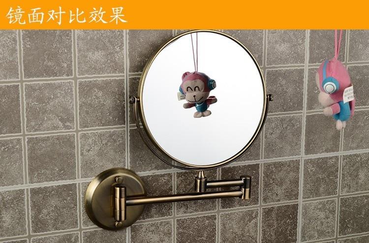 dobrável espelho maquiagem bronze espelho parede 1308q