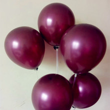 New arrival wine red ballon 50pcs/lot 10inch latex balloons happy birthda party decorations adult globos decoration anniversaire