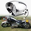 """New 7"""" Chrome LED Motorcycle Bullet Headlight LED Lamp For Harley Honda VTC 400 Chopper Bobber Cafe Custom"""