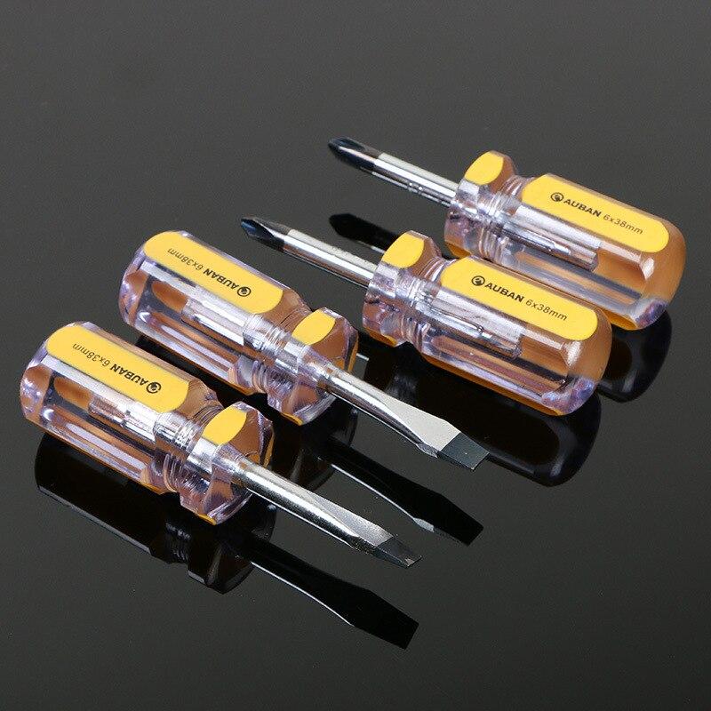 AUBON сильные магнитные прорези/крестовая отвертка Авто домашний ручной инструмент для ремонта 3 мм/5 мм/6 мм Dirver Rod